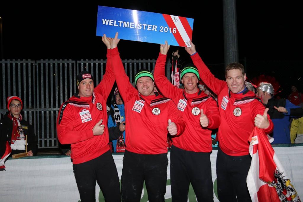 Team Austria - Patschg, Bischof, Genser, Weichinger - Foto von Peter Andrae